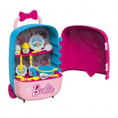 Bucatarie tip valiza 2 in 1 Barbie, 34 x 19 x 54 cm, 3 ani+