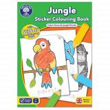 Carte de Colorat cu Activitati in Limba Engleza si Abtibilduri Jungla, orchard toys