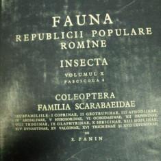 FAUNA REPUBLICII POULARE ROMANE ,INSECTA VOL.X,FASCICOLA 4 ,COLEOPTERA ,FAMILIA SCARABAEIDAE , 1957