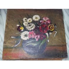 Pictura veche 1973,tablou pictat de pictor CATRARGIU Superb fara RAMA,T.GRATUIT