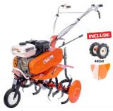 Motosapa RURIS DAC 7000B, 7 CP, Latime Lucru 560-830 mm + roti cauciuc 4.00-8 + rarita