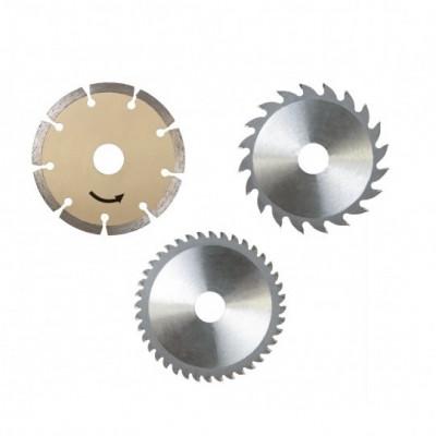 Set discuri pentru fierastrau circular PL285 Scheppach SCH7901805704, O89x10 mm, 3 piese foto