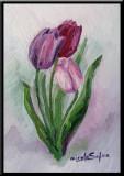Lalele, tablou pictura ulei pe panza un cadou de neuitat, Flori, Impresionism