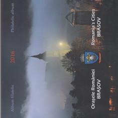 ROMANIA 2016  LP  2094 a  ORASELE  ROMANIEI  BRASOV   ALBUM  FILATELIC