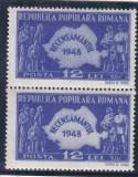 ROMANIA 1948 LP 226 RECENSAMANTUL PERECHE MNH, Nestampilat