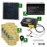 Pachet gard electric cu Panou solar 2,5J putere și 7000m Fir 160Kg