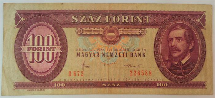 Bancnota 100 FORINTI - UNGARIA, anul 1984 *cod 219