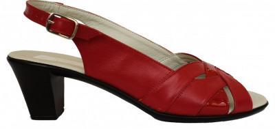 Sandale dama cu toc Ninna Art 229 rosu foto