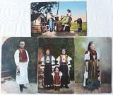 Cumpara ieftin 4 CARTI POSTALE ANTEBELICE - PORT POPULAR UNGURESC, Ambele, Romania 1900 - 1950