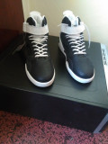Black and white high sneakers