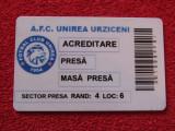 Card-Acreditare presa fotbal - AFC UNIREA URZICENI