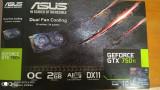 ASUS GeForce GTX 750ti 2GB OC, GDDR5 128-bit