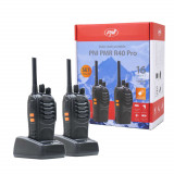 Aproape nou: Statie radio portabila PNI PMR R40 PRO, set cu 2 buc, 0.5W, ASQ, TOT,