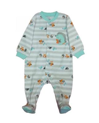 Salopeta / Pijama bebe cu dungi si arici Z80 foto