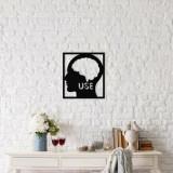 Decoratiune pentru perete, Ocean, metal 100 procente, 48 x 53 cm, 874OCN1053, Negru