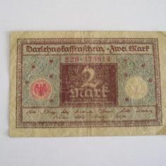 MDBS - BANCNOTA FOARTE VECHE - GERMANIA - 2 MARCI - 1920