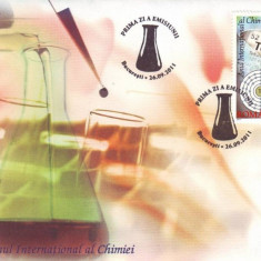 2011 Romania, FDC Anul International al Chimiei LP 1917, plic prima zi