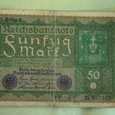 50 Mark / Marci 1919 GERMANIA Reihe 1 - Lot de 2 Bucati / 2