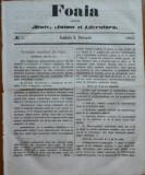Foaia pentru minte , inima si literatura , nr. 5 , 1862 , Brasov , I. Muresanu