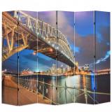 Paravan de cameră pliabil, 228 x 170 cm, Sydney Harbour Bridge, vidaXL
