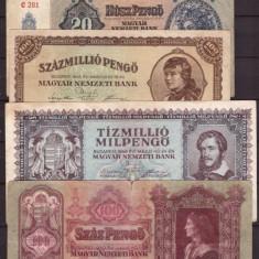 Ungaria - Lot 5 bancnote vechi, circulate