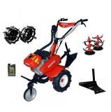 Motocultor Rotakt ROG80 (RO80), 7 CP, carcasa transmisie fonta + Plug de arat + Roti metalice + ulei