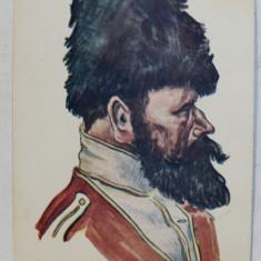 ALIATII NOSTRI - RUSIA ( CAZAC ) , DESEN de STEURER , CARTE POSTALA ILUSTRATA , POLICROMA , NECIRCULATA , DATATA 1916
