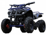 Mini ATV Electric Eco Torino Deluxe 1000W 48V cu 3 Trepte de Viteza Albastru