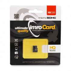 Card MicroSD 16 GB Clasa 10 IMRO foto