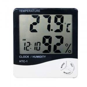 Ceas cu termometru si higrometru HTC-1