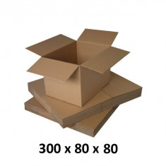 Cutie carton 300x80x80, natur, 5 straturi CO5, 690 g/mp