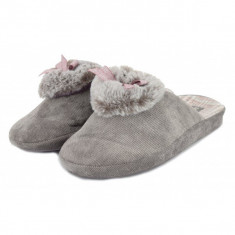 Papuci de casa gri (cod 192-180780)