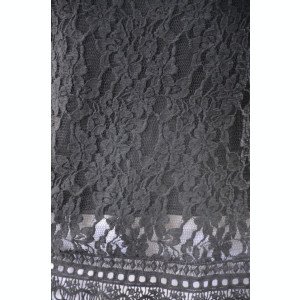 Bluza de vara tip maieu Luiza cu insertii de dantela,nuanta de negru