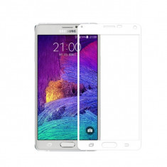 Folie protectie sticla securizata fullsize pentru Samsung Galaxy Note 4, alb