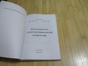 LIDIA NICULITA--MANAGEMENTUL CALITATII PRODUSELOR ALIMENTARE