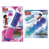 Cumpara ieftin Pachet Odorizant WC DR. DEVIL 5 Ball, Bicolor Polar Aqua, 35 g, si DR. Devil Point Block Japanese Garden, 75 ml, Odorizant Toaleta, Odorizant Anticalc
