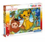 Cumpara ieftin Puzzle Super Color Regele Animalelor, 104 piese