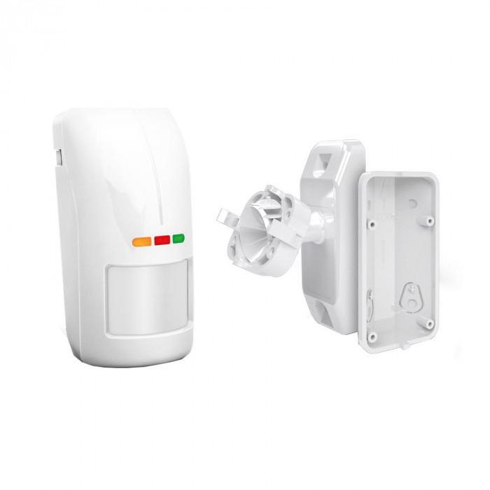 Senzor de exterior PIR+MW cu sensibilitate ajustabila si suport de prindere, OPAL Plus Set