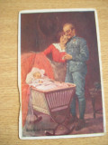 CAB9 - FELICITARE FOARTE VECHE - MILITAR GERMAN CU FAMILIA - ANII 20