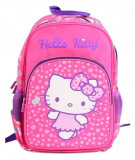 Ghiozdan clasa 0, Pretty Hello Kitty, material impermeabil, 38 cm