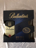 Pachet cadou Whisky Ballantine's Stay True, Leave an Impression, 40% + 2 pahare