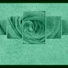 Set tablou fosforescent Trandafir culoarea piersicii