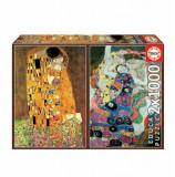 Cumpara ieftin Puzzle El Beso + La Virgen, Gustav Klimt, 2 x 1000 piese, Educa
