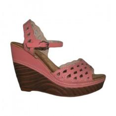 Sandale cu toc inalt, de zi, culoare corai