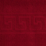 Cumpara ieftin Prosop de fata Bianca Cu Model Grecesc rosu 50×90 cm