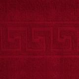 Prosop de fata Bianca Cu Model Grecesc rosu 50×90 cm