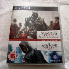 Pachet Assassin's Creed + Assassin's Creed II GOTY original, PS3!, Actiune, 18+, Single player, Ubisoft