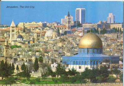 AD 1109 C. P. VECHE -IERUSALEM,  THE OLD CITY -IERUSALIM -ISRAEL foto