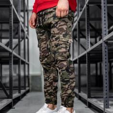 Pantaloni joggers cargo pentru bărbat verzi Bolf 0404
