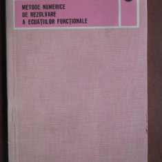 Metode numerice de rezolvare a ecuatiilor functionale-Roger Temam